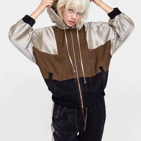 Wholesale chaquetas de invierno colorblock para mujer NHAM186140's discount tags