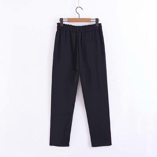 Pantalones casuales con cordones finos de las nuevas mujeres al por mayor NHAM186177