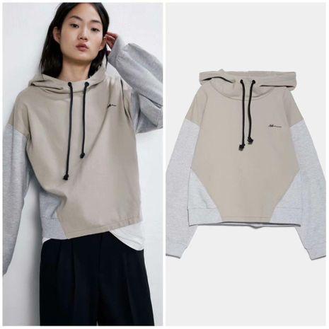Sudadera con capucha de invierno para mujer con costura al por mayor NHAM186215's discount tags