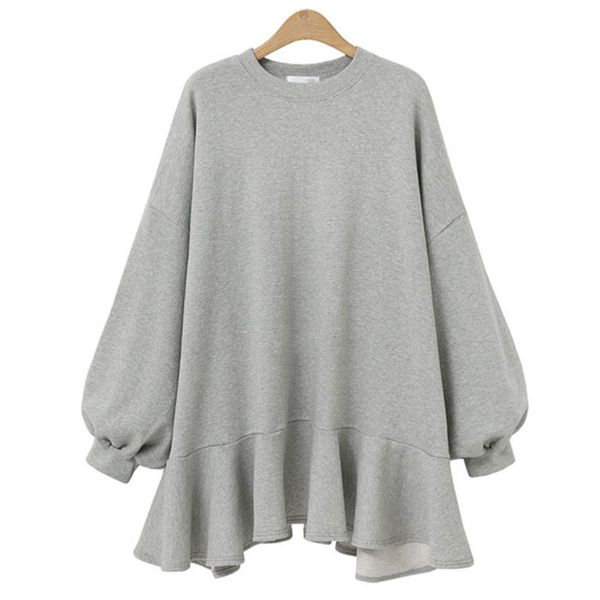 Winter fashion hot sale round neck solid color sweater dress women NHJC186235