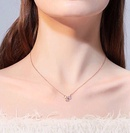 Korean fashion ladies necklace exquisite fashion copperplated real gold sweet clover women necklace NHSC186356