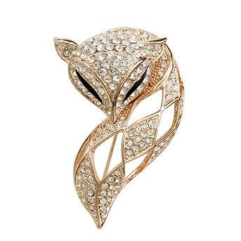 Corsage Trend Accessories Fine Crystal Fox Brooch Upscale Pin NHLJ186437's discount tags