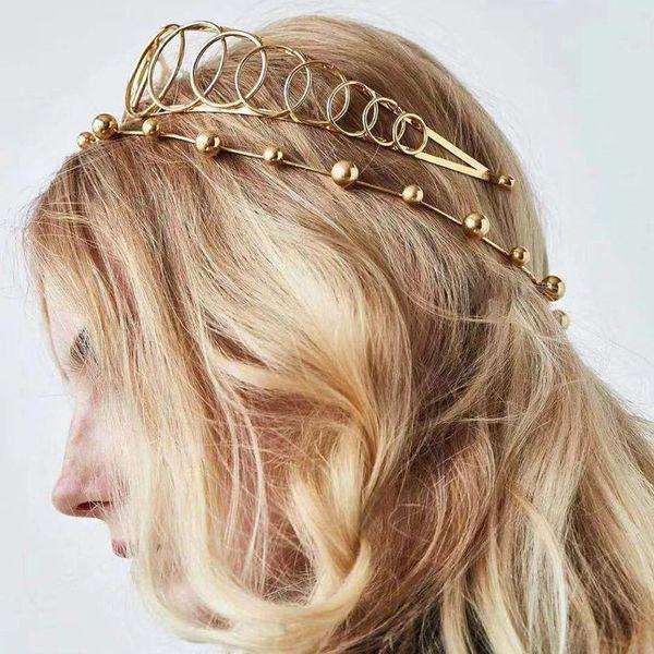 Nuevos accesorios para el cabello creativos de cristal de color diamante trenzado joyas para el cabello sombreros mujeres NHMD186608