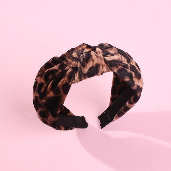 Exaggerated knotted hair hoop creative new leopard headband hair accessories women NHMD186614