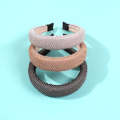 Full diamond cute sweet hair hoop fashionable wide edge sponge thick new hair accessories headband NHMD186618's discount tags
