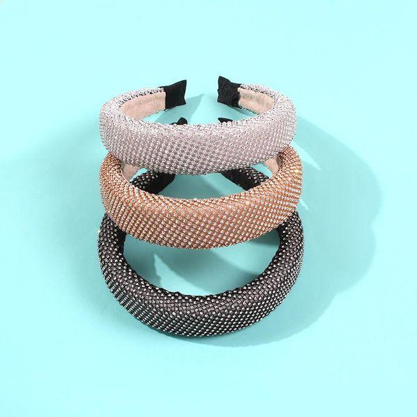 Full diamond cute sweet hair hoop fashionable wide edge sponge thick new hair accessories headband NHMD186618