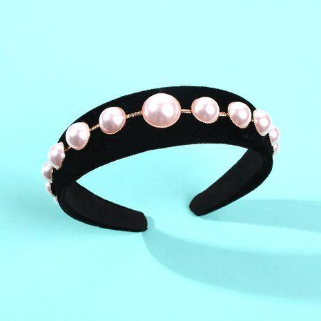 Retro round pearl hair hoop female simple Venus temperament hair accessories wide edge hairpin headband new NHMD186621's discount tags