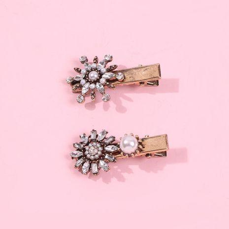 New Diamond Hair Clip Pearl Barbie Retro Hair Accessories NHMD186610's discount tags