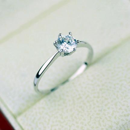 Simple women39s ring fine single zircon ring jewelry wholesale NHLJ186426