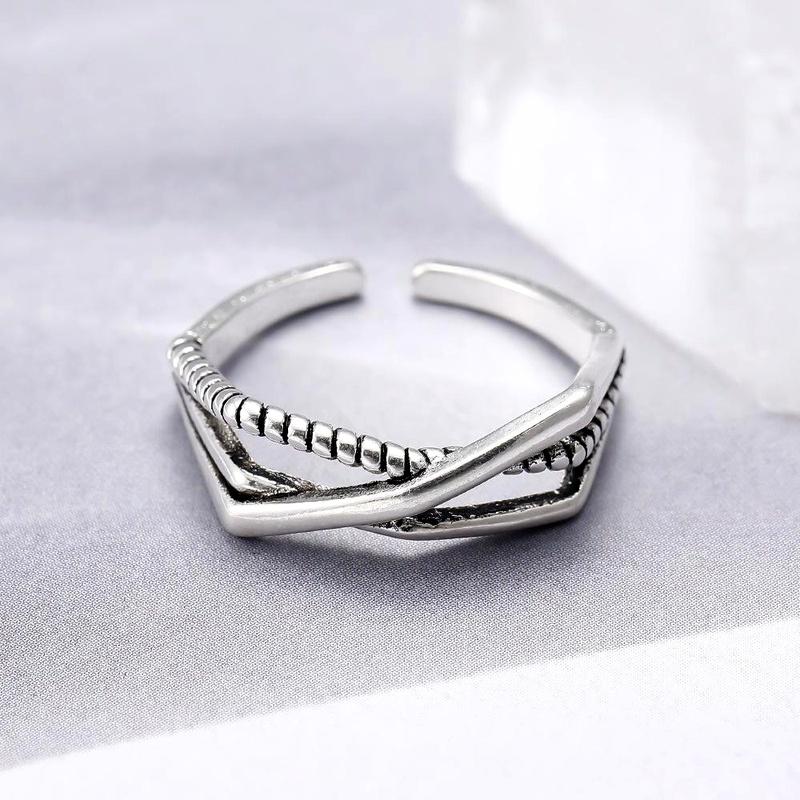 Ring wholesale ring 925 silver vintage plain silver ring NHIM186380