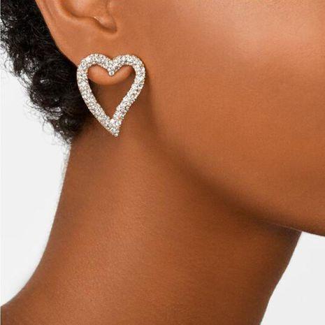 Simple ear jewelry hollow love model diamond temperament wild earrings women NHMD186617's discount tags