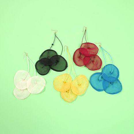 Rainbow Summer Cool Fairy Earrings Woven Chiffon Earrings NHMD186620's discount tags