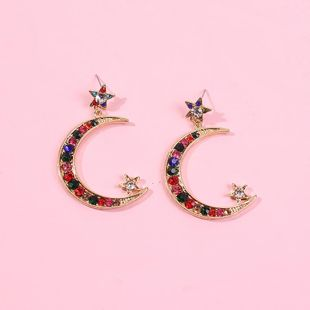 Crescent Bay Large C Diamond Earrings Original French Earrings NHMD186626's discount tags