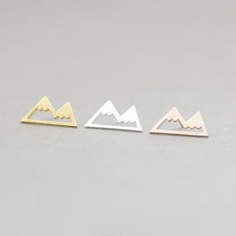 Fashion personality earrings hollow snow mountain earrings wholesale NHCU186588's discount tags