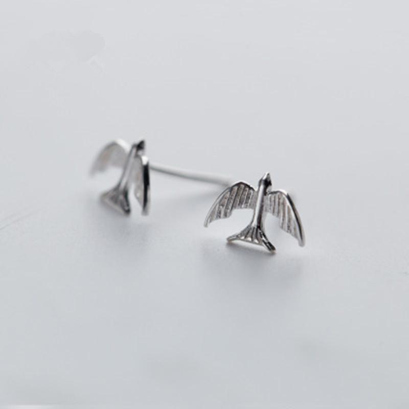 Cute Little Swallow Ear Studs NHCU186598