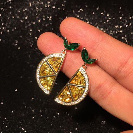 S925 Silver Korean Fashion Orange Earrings Lemon Slice Semicircle Earrings NHWK186535's discount tags