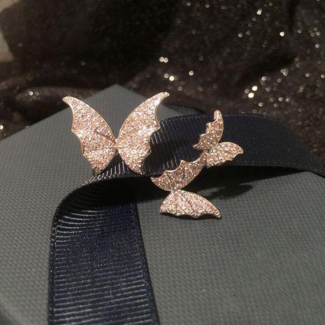 Bague papillon de luxe à la mode Bague réglable stéréo NHWK186542's discount tags
