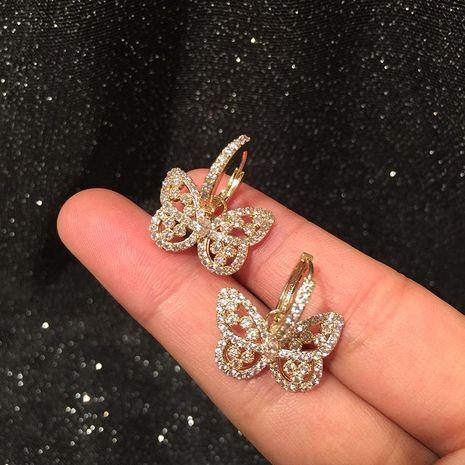 Fashion Creative Pink Girl Heart Hollow Butterfly Earrings NHWK186558's discount tags