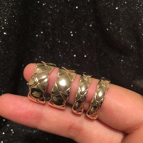 S925 Silver Pin Luxury Diamond Textured Earrings NHWK186517's discount tags