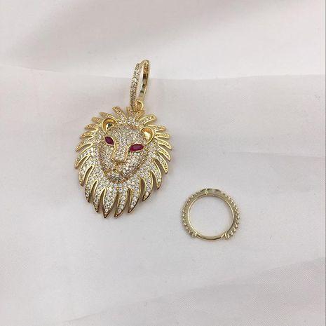 Vintage Micro Inlaid Zircon Asymmetric Lion Earring S925 NHWK186527's discount tags