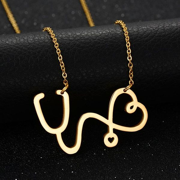 Korean fashion simple design titanium steel female short exquisite clavicle chain titanium steel necklace NHIM186397