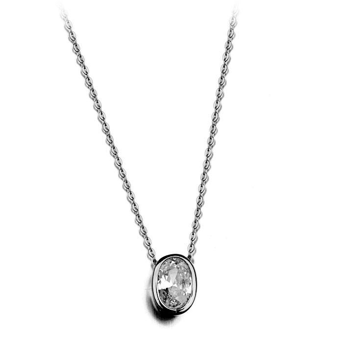 New fashion Korean version of zircon inlaid temperament simple and generous small bean curd necklace NHLJ186429