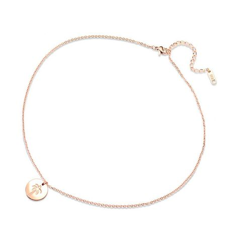 Coconut Tree Rose Gold Necklace NHOK186486's discount tags