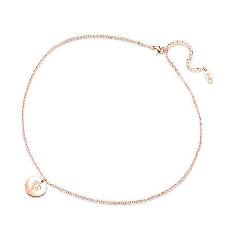 Collar de oro rosa de árbol de coco NHOK186486's discount tags