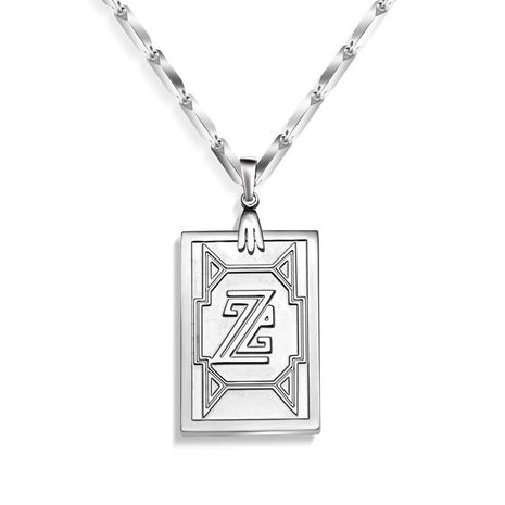 Titanium steel non-fading 316L material name men's personality necklace NHOK186492's discount tags