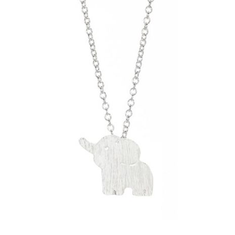 Hot sale cute elephant necklace eco alloy electroplated gold necklace clavicle chain wholesale NHCU186581's discount tags