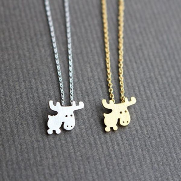 Pendant Necklace Environmental Plating Gold Silver Cartoon Fawn Clavicle Chain NHCU186582