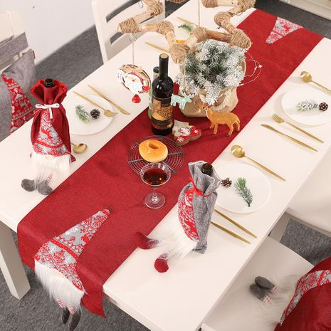 New Christmas decoration table flag creative three-dimensional elderly table decoration tablecloth placemat NHHB186118's discount tags