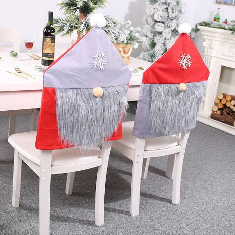 New red and gray chair cover Christmas decoration stool stool cover for the elderly chair cover wholesale NHHB186130's discount tags