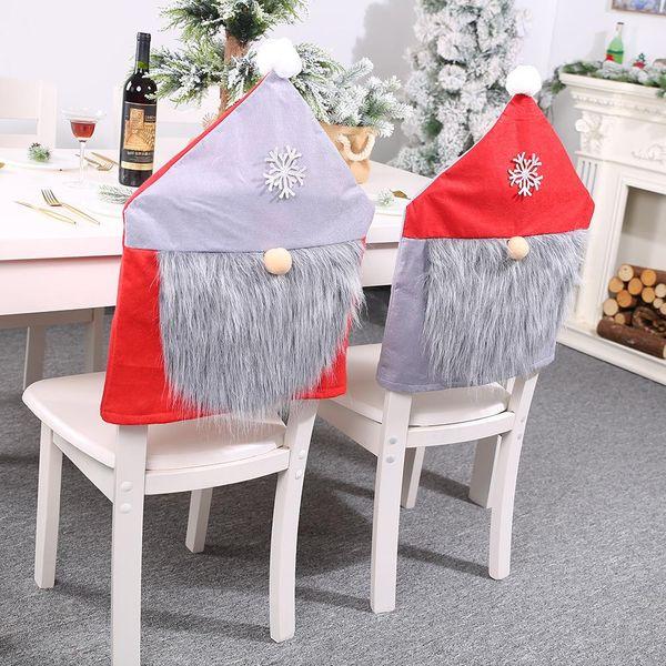Nueva funda de silla roja y gris Decoración navideña taburete taburete para ancianos cubierta de silla al por mayor NHHB186130