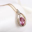 European and American vintage necklace luxury angel tear crystal diamond necklace NHLJ186432
