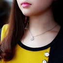 Frosted Snowflake Necklace Rose Gold Snowflake Necklace Real Gold Plated Clavicle Necklace NHOK186502