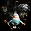 Christmas new pompom doll pendant ski snowman hanging Christmas decoration supplies tree pendant NHHB186129