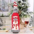 NHHB507378-Grey-velvet-edging-snowman-with-red-wine-bottle-c