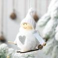 NHHB507416-Pompom-doll-ski-small-hanging-white
