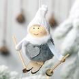 NHHB507419-Pompom-doll-ski-small-hanging-gray