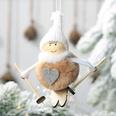 NHHB507420-Pompom-doll-ski-small-hanging-khaki