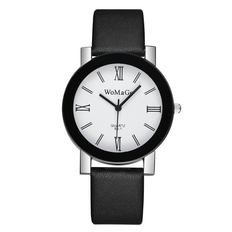 Student casual wrist watch fashion simple Roman scale quartz belt watch women NHSY186739
