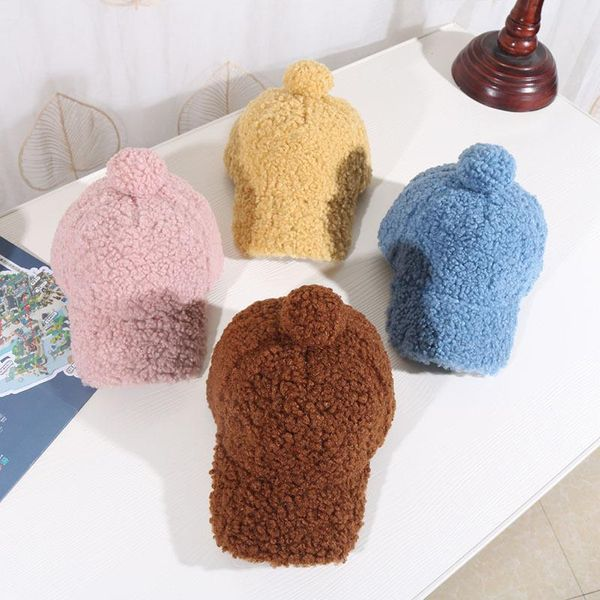 Autumn and winter children's peaked cap baby lambskin baseball cap NHHY186806