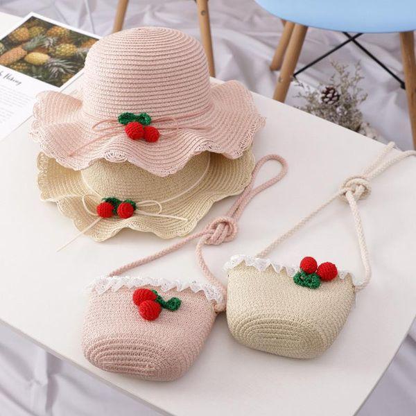 New children's straw hat girls cute princess hats NHHY186755
