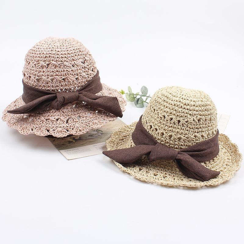 Children's straw hat female summer hollow hand hood sun visor NHXO186827