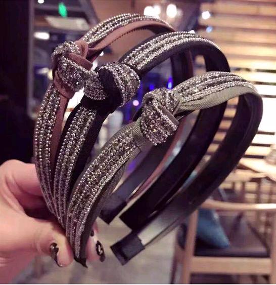 Korean fashion exquisite hair hoop head hoop wild diamond cross-knotted hair hoop head hoop head buckle ladies hair hoop NHSC187019