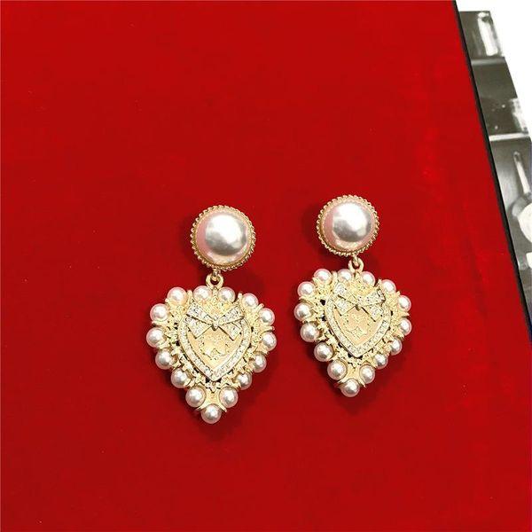 Baroque style heavy vintage diamond bow earrings NHYQ186970