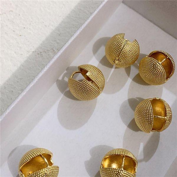 Simple double-sided polka dot ball matte gold earrings metal earrings earrings women NHYQ186971