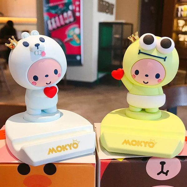 Crown monkey cute mobile phone stand desktop decoration lazy stand NHBM186663