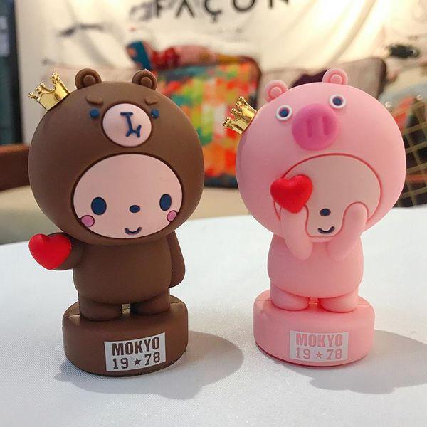 Cute crown monkey than heart series creative decoration car accessories NHBM186665